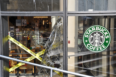 The morning after the Stanley Cup riot in downtown Vancouver. June 16, 2011. (Stephen Hui)