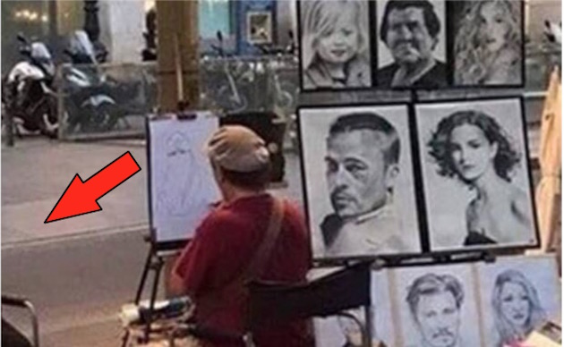 LMAO: Portrait Artist Has The Easiest Client In The World To Sketch – Even You Could Do It