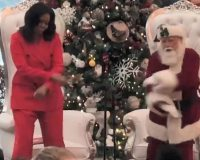 WATCH: Michelle Obama Tries To Dance In Public – She's No Ginger Rogers