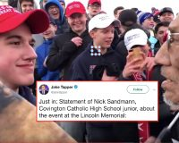 Nick Sandmann, The Covington HS Student From Lincoln Memorial Viral Video, Speaks Out