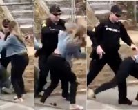 WATCH: Cop Drops Chick During St. Patty's Day Brawl – Did He Go Too Far?