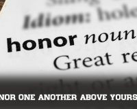Honor One Another ABOVE Yourself