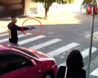 WATCH: Bro Pulls Gun In Broad Daylight — Armed Chick Wasn't Playing His Game