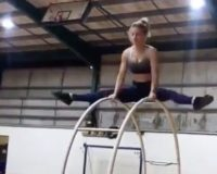 UNREAL: What This Fit Chick Can Do On A Wheel Will Blow Your D@mn Mind!