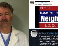 Senator Rand Paul Has Recovered From Coronavirus And Is Now Volunteering At A Local Hospital–Leftist Twitter Hardest Hit