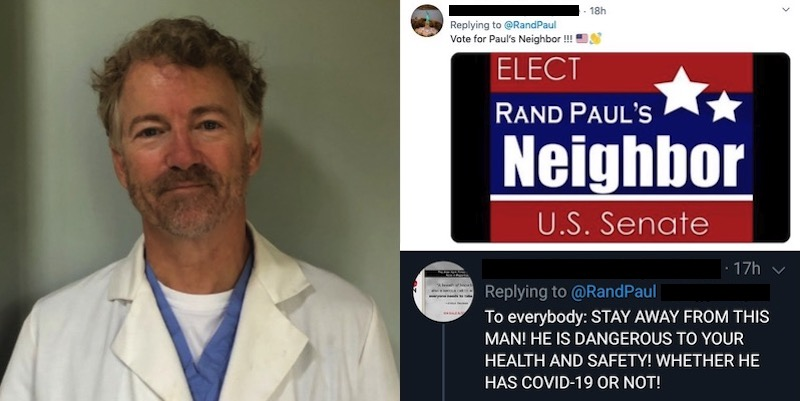 Senator Rand Paul Has Recovered From Coronavirus And Is Now Volunteering At A Local Hospital--Leftist Twitter Hardest Hit
