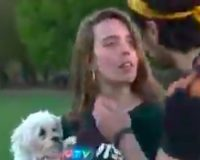 WATCH: Bro Kisses Cute Girl While She's In The Middle Of A News Interview And People Are OUTRAGED