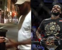 WATCH: UFC Champ Jon 'Bones' Jones Takes Spray Cans Away From Protesters