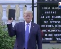 MEME OF THE DAY: Trump's Historic Address And Walk To Church Is Already A Bad@ss Meme