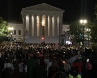 Huge Crowd Gathers Outside Of Supreme Court Building To Honor RBG–Is That A 'Super-Spreader' Event?