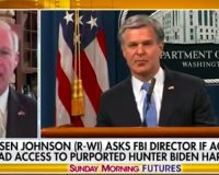 WATCH: Sen. Ron Johnson Demands Answers From Director Wray On Why The FBI Has Been 'Investigating' Hunter Biden Laptop For A YEAR
