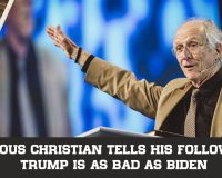 Famous Christian Tells His Followers Trump Is As Bad As Biden