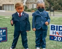 Twin 4-Year-Old Girls Dress Up As Trump And Biden For Halloween — TikTok Video Reveal Goes Viral