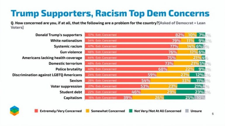 Top Concern For Democrat Voters Is… Trump Supporters ⋆ Conservative Firing Line