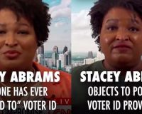 WATCH: Blatant Liar Stacey Abrams Says 'No One Ever Objected To Voter I.D.' — Here She Is Doing EXACTLY That