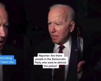 WATCH: Joe Biden's BIZARRE Answer To Reporter Asking If ANY Democrats Want To Defund The Police