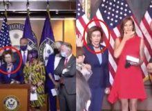 WATCH: House Speaker Nancy Pelosi Breaks Her New Capitol Mask Rule TWICE Before Noon
