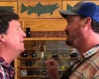 Man Calls Tucker Carlson 'The Worst Human Being Ever' In Montana Fly Fishing Shop (VIDEO)
