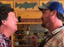 Man Calls Tucker Carlson 'The Worst Human Being Ever' In Montana Fly Fishing Store (VIDEO)