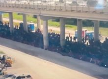 WATCH: New Drone Footage Shows MASSIVE Group Of Illegal Border Crossers Held By Border Patrol
