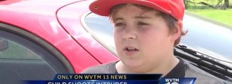 WATCH: 11yr. Old Bad@ss SHOOTS Burglar And Delivers EPIC Message To Him Via TV