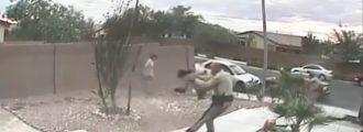 Gun Wielding Thug Threatens Cops, Gets Turned Into A Human Spigot