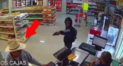 Watch: Hero In Cowboy Hat Throttles Armed Robber - It's Pure Gold