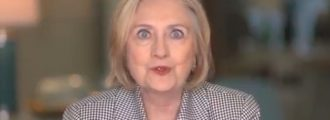 Watch: Goggle-Eyed Hillary Goes On A Fresh Wild Video Rant About Women In Politics
