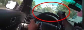 Watch: Cop Shoots Through Window And Nails 2 Gun Toting Idiots