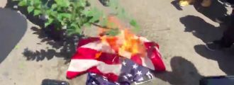 Video: Maxine's Disciples Burn Our Flag and Chant 'Black Power' At Her Headquarters
