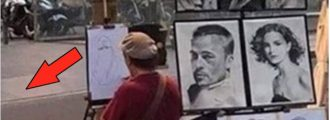 LMAO: Portrait Artist Has The Easiest Client In The World To Sketch - Even You Could Do It