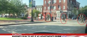 Heroic Marines Save Seniors From Burning Building