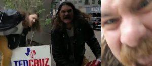 WATCH: Deranged Ted Cruz Hater Goes MACH2 After Getting Caught Stealing Cruz Signs