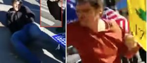 WATCH: Leftists Physically Attack Trump Enthusiasts For Protesting CNN - Would You Retaliate?