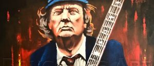 TRUMP ART: If You Like Trump & Rock-N-Roll You LOVE This New Trump Painting