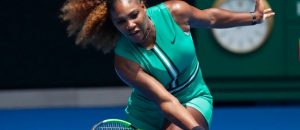 Serena Williams Plays In Skin Tight Lycra Onesie And Fishnet Stockings During Aussie Open