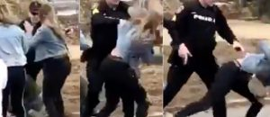 WATCH: Cop Drops Chick During St. Patty's Day Brawl - Did He Go Too Far?