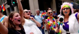 WATCH: 'Rainbow Snatch' Persona Trolls Impeach Trump Crowd Like A Boss