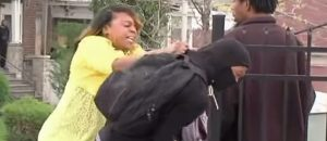 LMAO: Black Block Rioter Not So Tough When His MAMA Shows Up