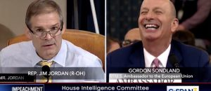 LMAO: Jim Jordan's Question To Sondland Has Him Laughing... While Making A Great Point (Video)